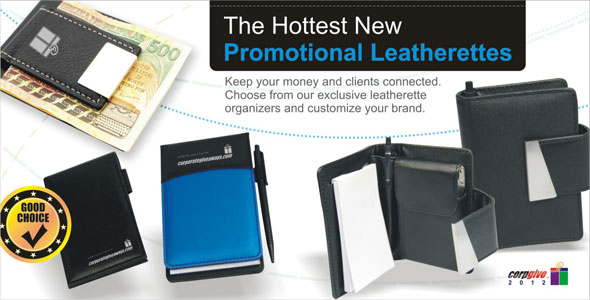 The Hottest New Promotional Leatherettes.